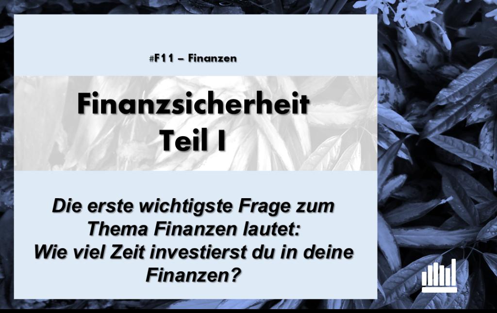 #F11 Finanzsicherheit I